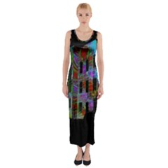 Science Center Fitted Maxi Dress