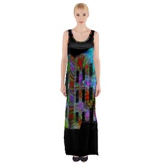 Science Center Maxi Thigh Split Dress