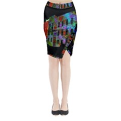 Science Center Midi Wrap Pencil Skirt