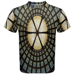 Stained Glass Colorful Glass Men s Cotton Tee