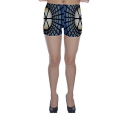Stained Glass Colorful Glass Skinny Shorts