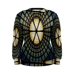 Stained Glass Colorful Glass Women s Sweatshirt