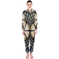 Stained Glass Colorful Glass Hooded Jumpsuit (Ladies)