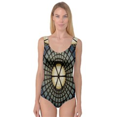 Stained Glass Colorful Glass Princess Tank Leotard