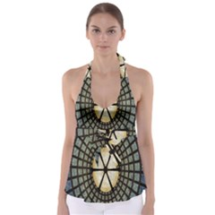 Stained Glass Colorful Glass Babydoll Tankini Top