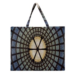 Stained Glass Colorful Glass Zipper Large Tote Bag
