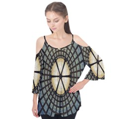 Stained Glass Colorful Glass Flutter Tees