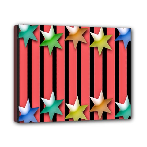 Star Christmas Greeting Canvas 10  x 8