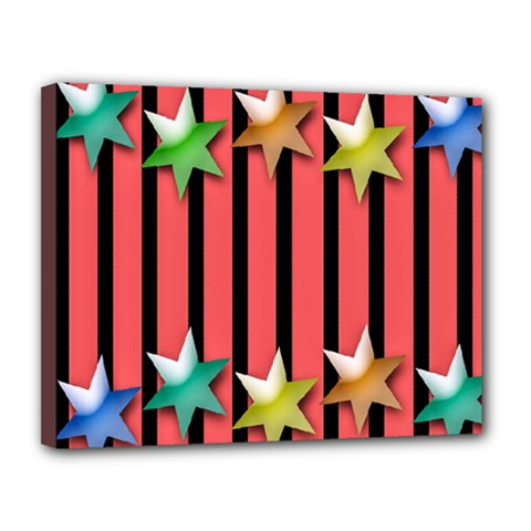 Star Christmas Greeting Canvas 14  x 11