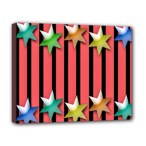 Star Christmas Greeting Deluxe Canvas 20  x 16