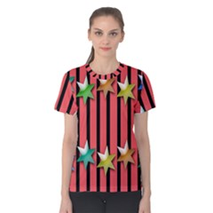 Star Christmas Greeting Women s Cotton Tee
