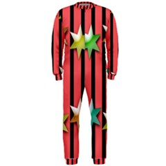 Star Christmas Greeting Onepiece Jumpsuit (men)