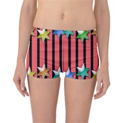 Star Christmas Greeting Boyleg Bikini Bottoms