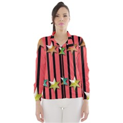 Star Christmas Greeting Wind Breaker (women)