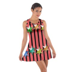 Star Christmas Greeting Cotton Racerback Dress