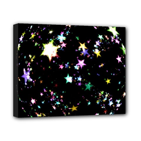 Star Ball About Pile Christmas Canvas 10  x 8