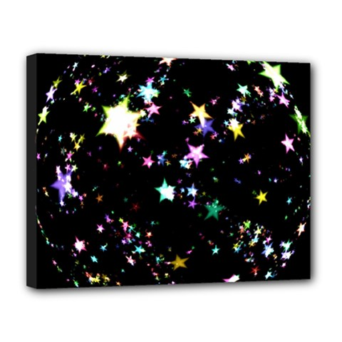 Star Ball About Pile Christmas Canvas 14  x 11