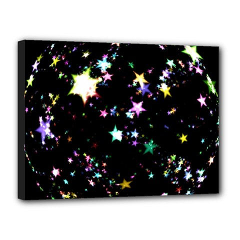 Star Ball About Pile Christmas Canvas 16  x 12