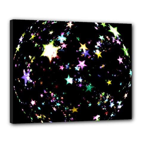 Star Ball About Pile Christmas Canvas 20  x 16