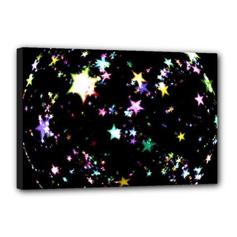 Star Ball About Pile Christmas Canvas 18  x 12