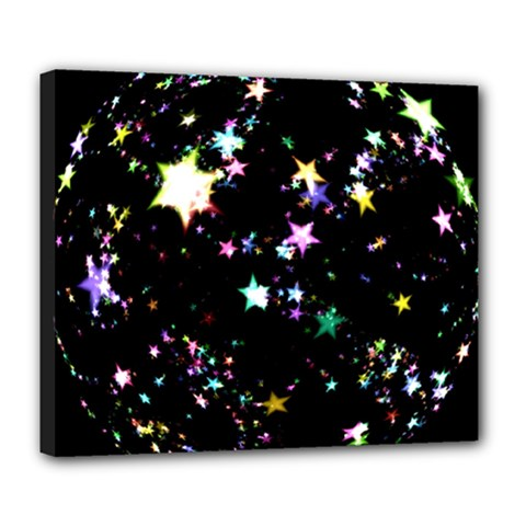 Star Ball About Pile Christmas Deluxe Canvas 24  x 20