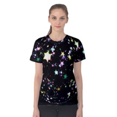 Star Ball About Pile Christmas Women s Cotton Tee