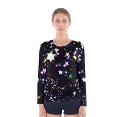 Star Ball About Pile Christmas Women s Long Sleeve Tee