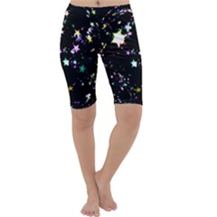 Star Ball About Pile Christmas Cropped Leggings