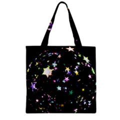 Star Ball About Pile Christmas Zipper Grocery Tote Bag