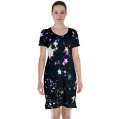 Star Ball About Pile Christmas Short Sleeve Nightdress