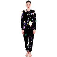 Star Ball About Pile Christmas OnePiece Jumpsuit (Ladies)