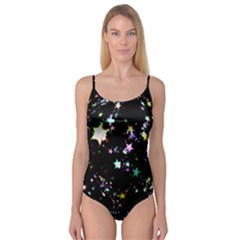 Star Ball About Pile Christmas Camisole Leotard