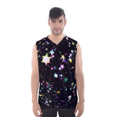 Star Ball About Pile Christmas Men s Basketball Tank Top