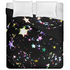 Star Ball About Pile Christmas Duvet Cover Double Side (california King Size)