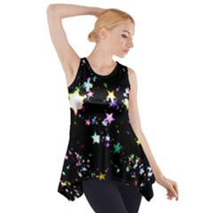 Star Ball About Pile Christmas Side Drop Tank Tunic