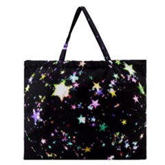 Star Ball About Pile Christmas Zipper Large Tote Bag