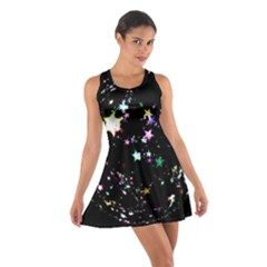 Star Ball About Pile Christmas Cotton Racerback Dress
