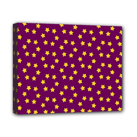 Star Christmas Red Yellow Canvas 10  x 8