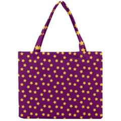 Star Christmas Red Yellow Mini Tote Bag