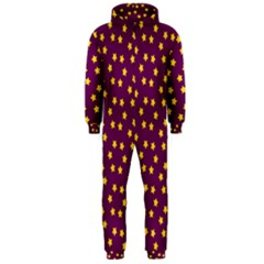 Star Christmas Red Yellow Hooded Jumpsuit (Men)