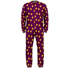 Star Christmas Red Yellow OnePiece Jumpsuit (Men)
