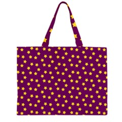 Star Christmas Red Yellow Large Tote Bag