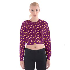 Star Christmas Red Yellow Women s Cropped Sweatshirt