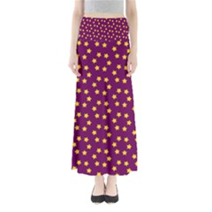 Star Christmas Red Yellow Maxi Skirts