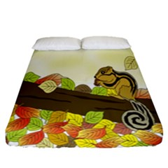 Squirrel Fitted Sheet (queen Size)