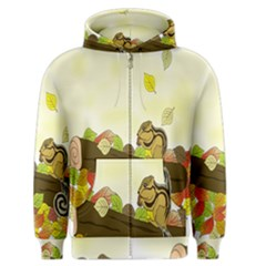Squirrel Men s Zipper Hoodie