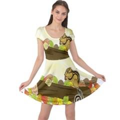 Squirrel Cap Sleeve Dresses