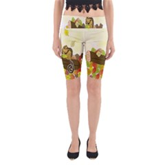 Squirrel Yoga Cropped Leggings