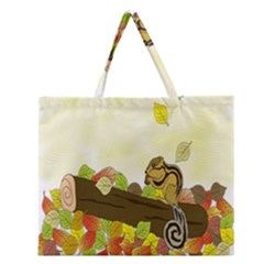 Squirrel Zipper Large Tote Bag
