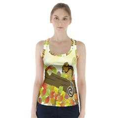 Squirrel Racer Back Sports Top